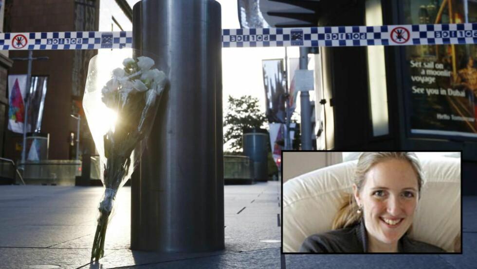 DREPT: Trebarnsmora Katrina Dawson ble drept i gisseldramaet i Sydney. Foto: EPA / NTB Scanpix