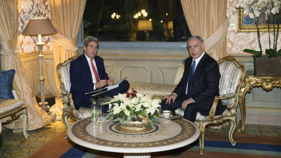 I SKVIS:  USA har imidlertid ennå ikke bestemt seg for hvordan landet vil forholde seg til resolusjonene som nå sirkulerer om en palestinsk stat. Foto: Evan Vucci / Reuters / NTB Scanpix