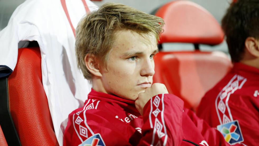 HAR BESTEMT SEG? Martin Ødegaard kan havne i Bayern München. At trener Pep Guardiola har sansen for nordmannen er i hvert fall sikkert. Foto: Cornelius Poppe / NTB scanpix