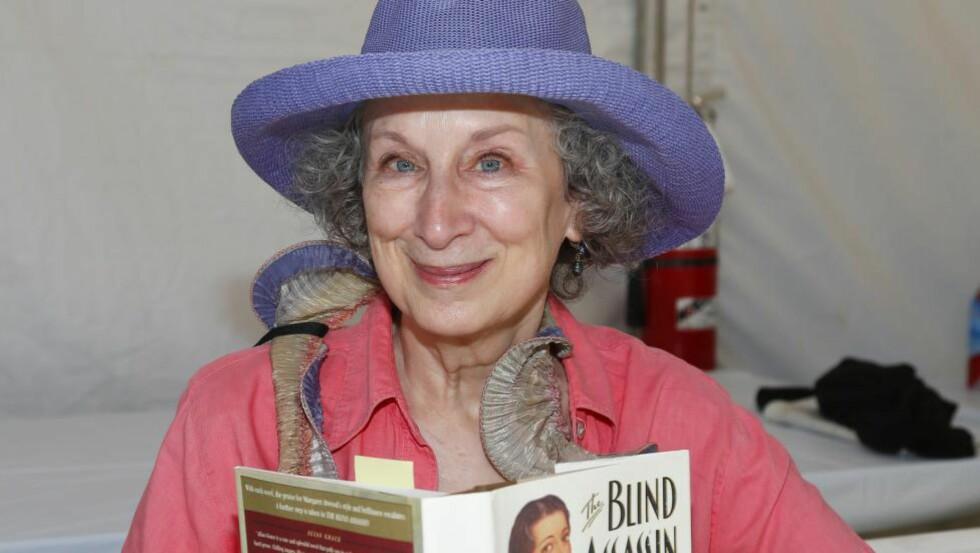 FØRSTE BIDRAGSYTER: Forfatter Margaret Atwood er den første bidragsyteren til det norske prosjektet «The Future Library». Foto: NTB Scanpix