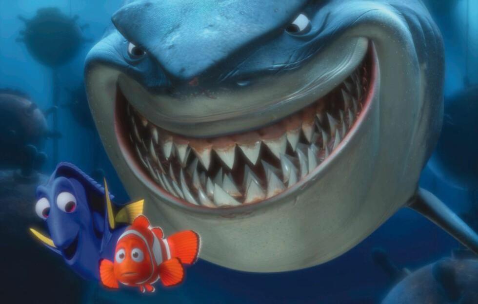 BRUTAL: Det tar bare fire minutter før Nemo mister moren sin til en barrakuda i «Oppdrag Nemo» fra 2003. Mange animasjonsfilmer for barn viser drap, særlig på de sentrale figurenes foreldre, viser ny studie. Foto: Disney