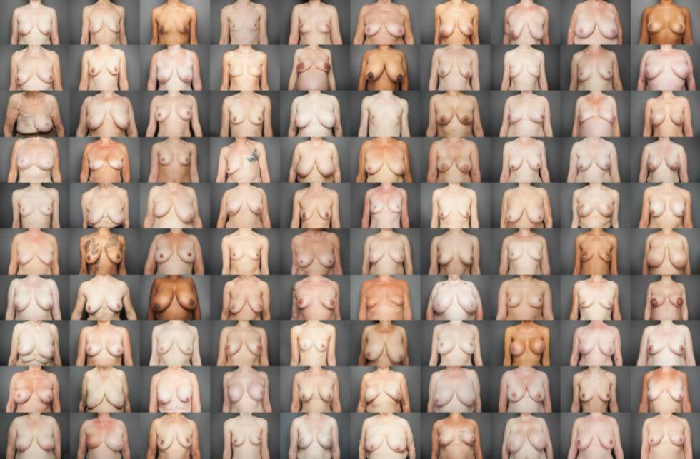 200 BRYSTER: - Forfriskende, mener Laura Dodsworth, som har foreviget 100 kvinners nakne frontparti, og håper at det vil endre folks syn på bryster. Foto: Laura Dodsworth