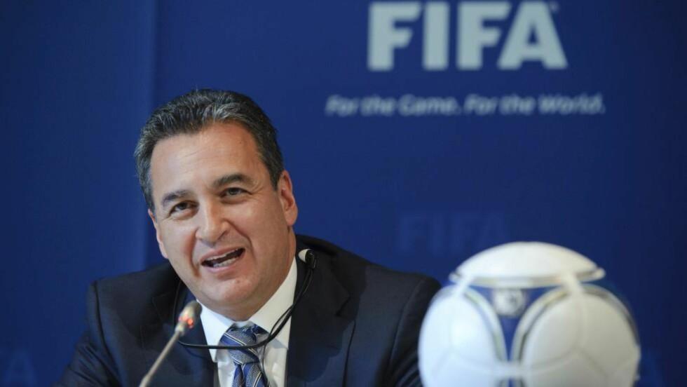 SLUTTER: Amerikanske Michael Garcia, som ledet FIFAs etterforskning rundt korrupsjonsanklagene mot Russland og Qatar, har sagt opp. Foto: AFP PHOTO / SEBASTIEN BOZON