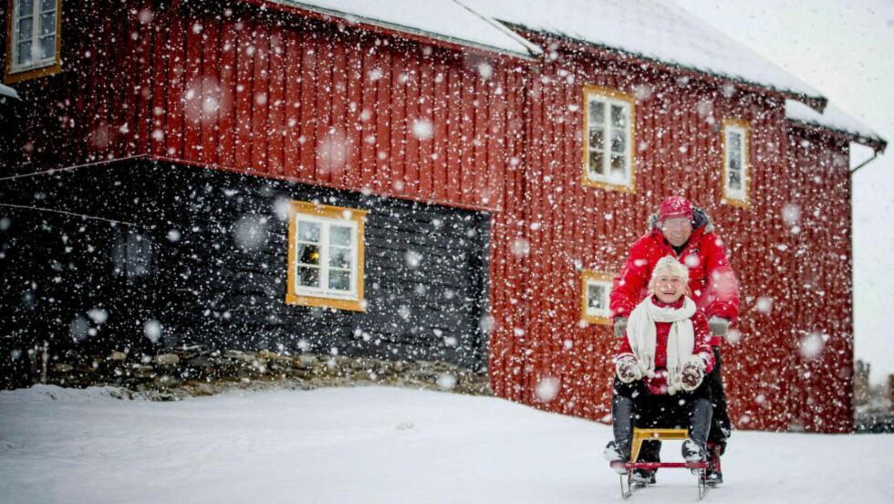 I FJOR:  Slik så det ut på Røros i Sør-Trøndelag i førjulstida i fjor. Foto:Thomas Rasmus Skaug / Dagbladet