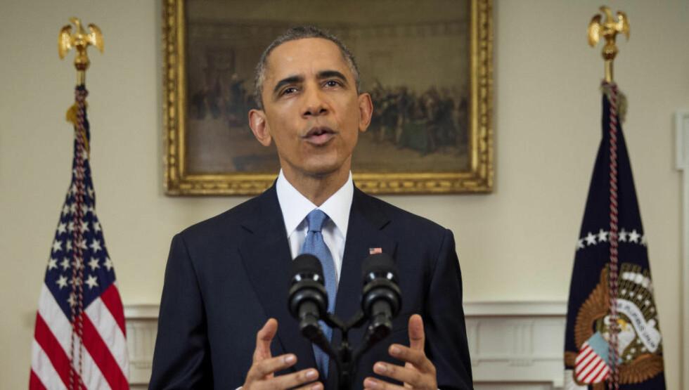 HISTORISK AVTALE: President Barack Obama annonserte onsdag kveld den politiske helomvendingen. Foto: Reuters / NTB Scanpix