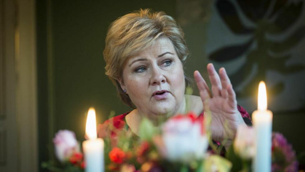 STOLT AV MYE: Erna Solberg er stolt av mye regjeringen har gjort så langt. Foto: Lars Eivind Bones / Dagbladet