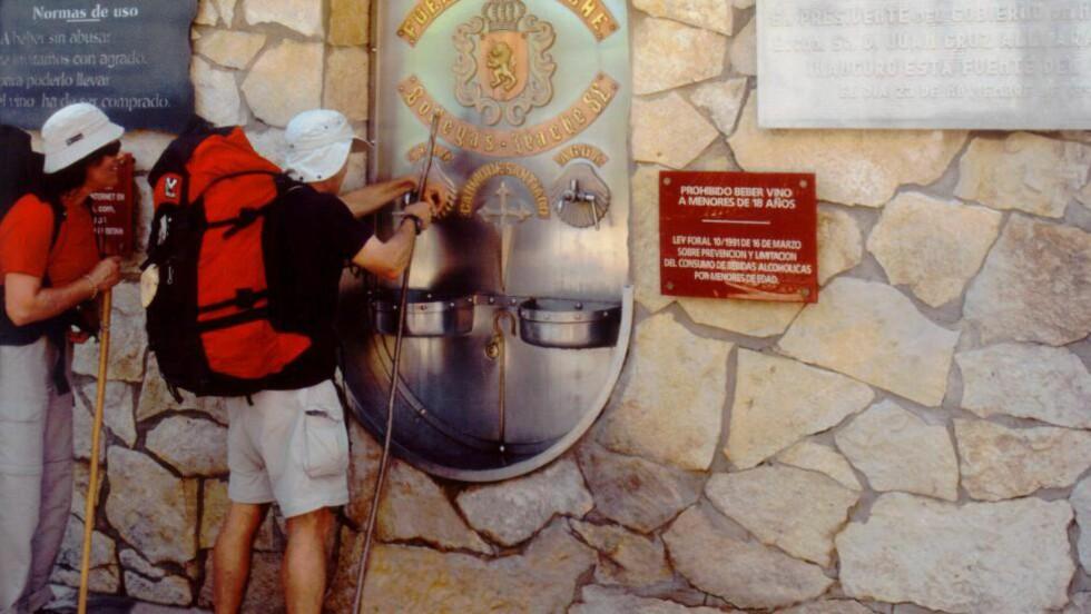 GRATIS: Hver dag kommer vintørste turister for å hente nye krefter. Foto: BODEGAS IRACHE