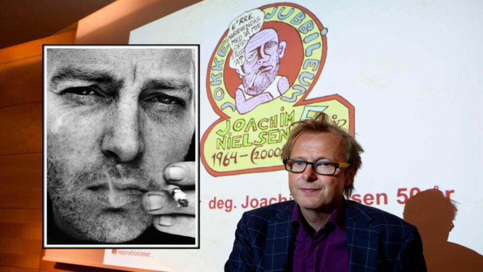 MISUNNELIG: Lars Lollo-Stenberg hyllet Joachim Nielsen med et muntert foredrag om hvorhor han var misunnelig på Jokke. Foto: Anders Grønneberg og Agnete Brun.