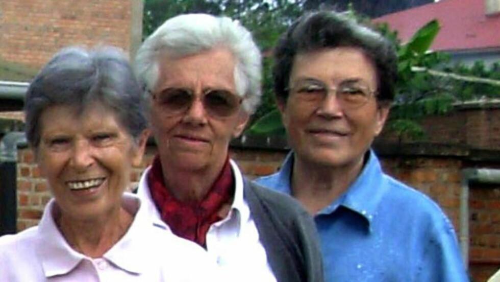 DREPT:  De tre nonnene ble funnet drept i Burundi i helgen. Fra venstre: Bernardetta Boggian, Olga Raschietti og Lucia Pulici. Foto:EPA/SANDRO CAPATTI / XAVERIAN MISSIONARIES OF PARMA