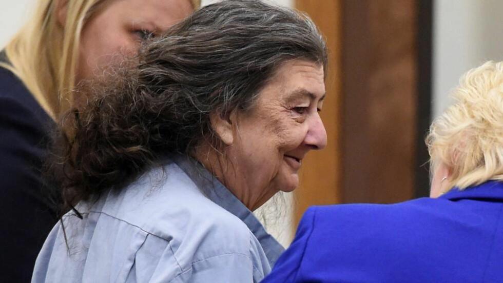 LØSLATT:  Cathy Woods får saken sin prøvd på nytt i juli 2915. Foto: AP Photo/The Reno Gazette-Journal, Andy Barron