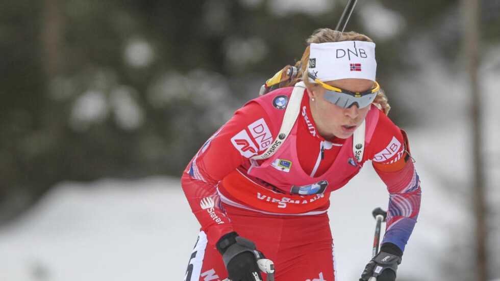 SYK: Skiskytteren Tiril Eckhoff sliter med sykdom og dropper helgens verdenscuprenn i Pokljuka. Foto: Primoz Lovric / NTB scanpix