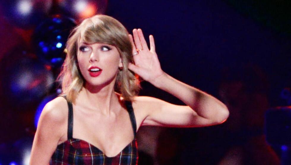 HØRER DU, TAYLOR? Med bop.fm får du spilt Taylor Swifts musikk, selv om hun har forlatt Spotify. Og nå kommer musikktjenesten med mobilapp til iOS. Foto: SCANPIX