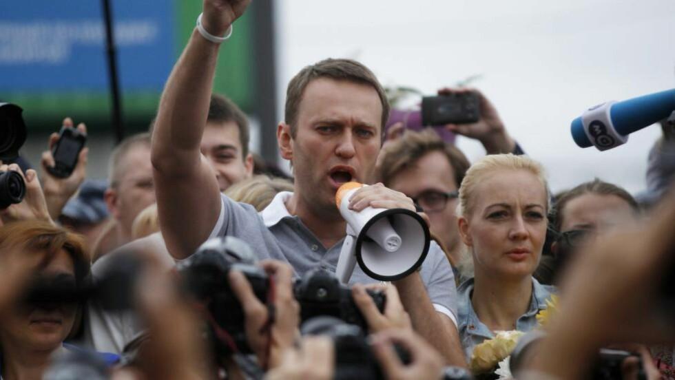 OPPOSISJONSLEDER Alexej Navalnyj er en av opposisjonens frontfigurer i Russland. Foto: Dmitry Lovetsky/Ap/Scanpix