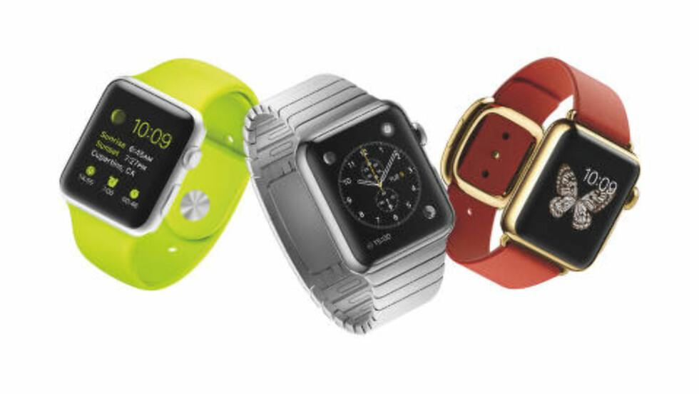 CUSTOMIZE: Det var ikke tilfeldig at Apple hadde invitert motebransjen til dagens presentasjon. Apple Watch kan spesialtilpasses både på innsiden og utsiden i veldig stor grad. Foto: Apple