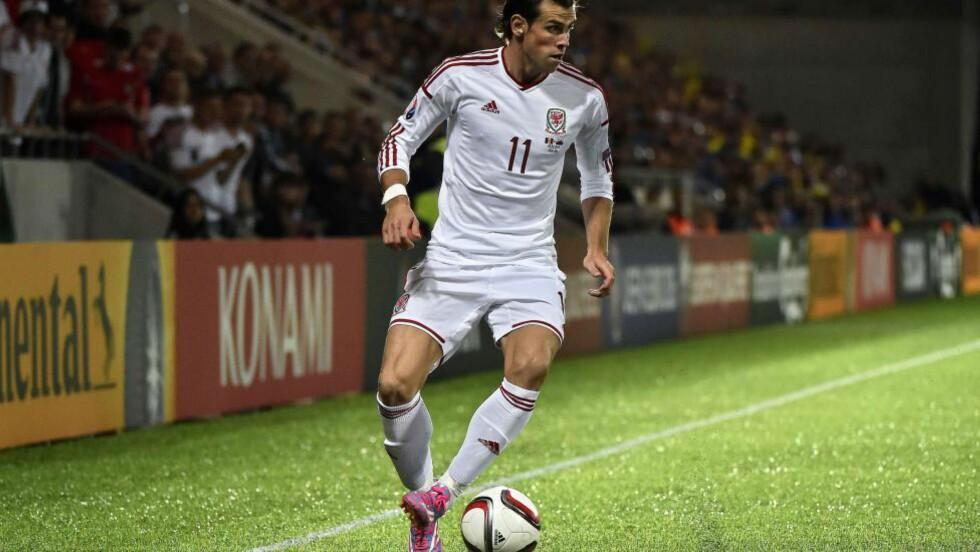 TOMÅLSSCORER: Gareth Bale scoret to mål og reddet Wales fra noe som kunne ha vært en skikkelig blemme i EM-kvalifiseringen. Foto: AFP PHOTO / PASCAL PAVANI