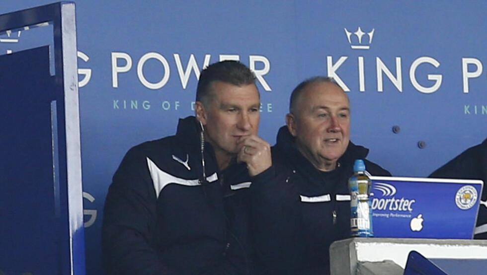 UTESTENGES: Leicester-manager Nigel Pearson må sone en kamp utestengelse for å ha gått til verbalt angrep på en supporter.    REUTERS/Darren Staples