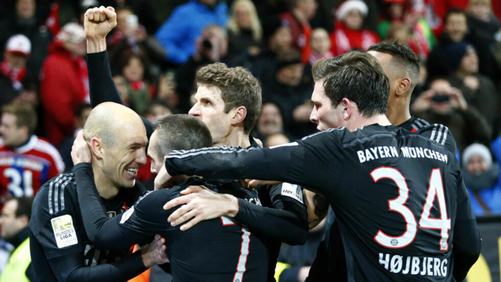 SCORET: Arjen Robben ble matchvinner for Bayern München mot Mainz.      REUTERS/Ralph Orlowski