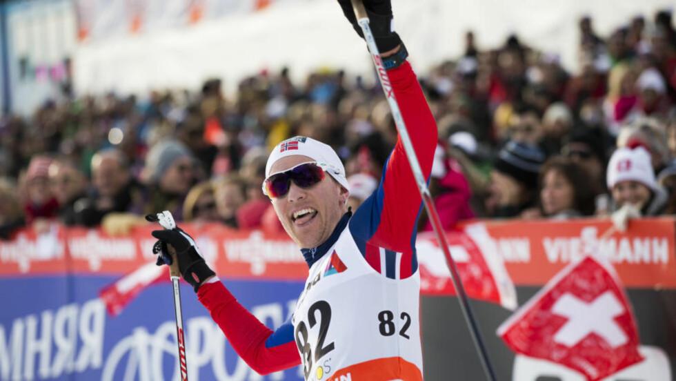 OPERERT: Sist helg ble Didrik Tønseth nummer to i Davos. Under dagens renn ligger han på sykhuset med nyoperert blindtarm. Foto: Berit Roald / NTB scanpix