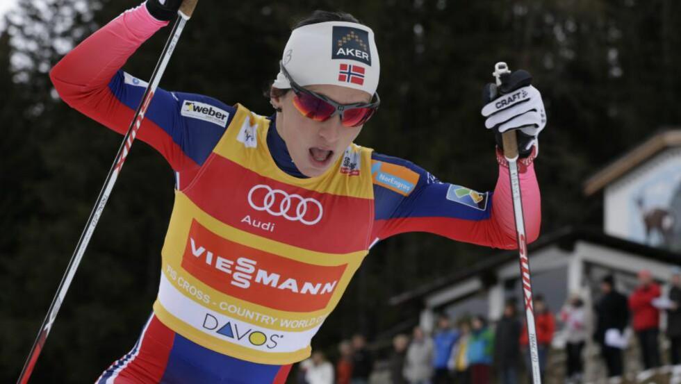 DAVOS, SVEITS 20141213. World Cup langrenn damer,  10 km klassisk i Davos.  Marit Bjørgen. Foto: Berit Roald / NTB scanpix
