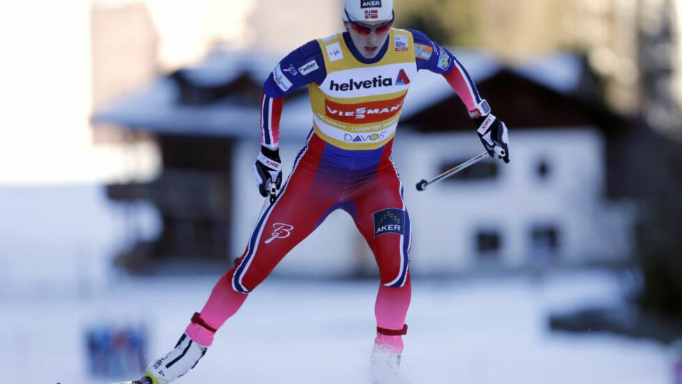 REVANSJ:  Marit Bjørgen vant dagens 10-kilometer fristil i Davos. Foto: NTB Scanpix