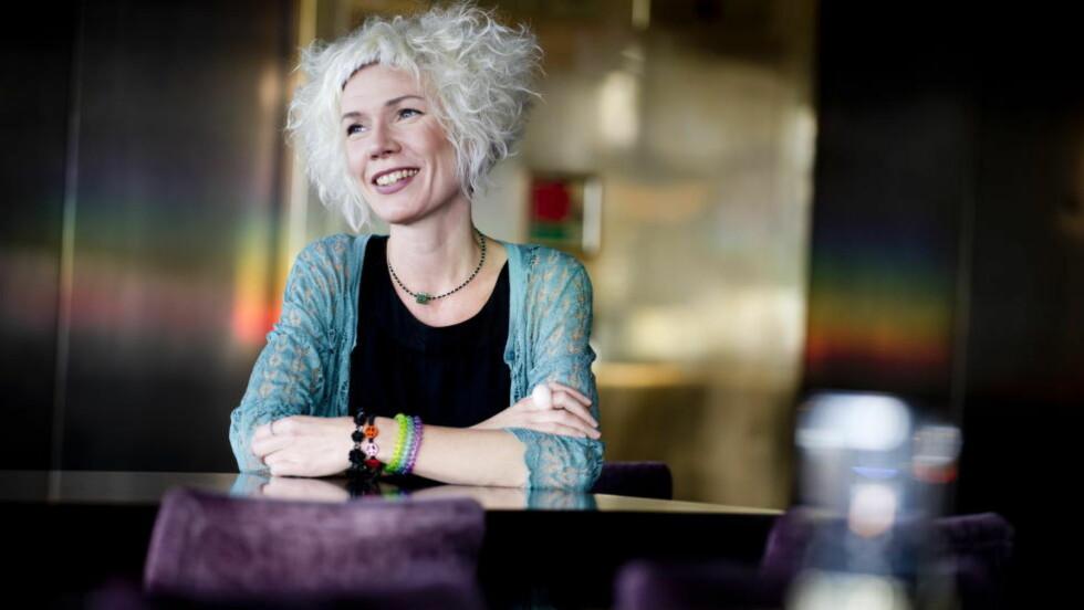2013.09.17. Oslo, Norge. Forfatter Hanne Ørstavik snakker om sin nye roman på Grand hotell i Oslo. Foto; Thomas Haugersveen / Dagbladet