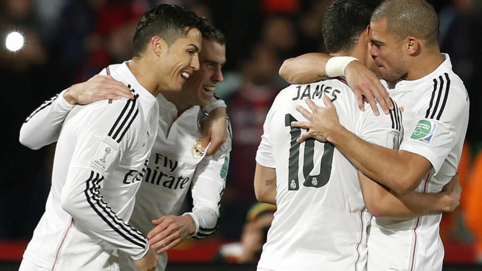 VERDENSMESTRE: Real Madrid vant finalen i verdensmesterskapet for klubblag 2-0 mot San Lorenzo. Foto: Abdeljalil Bounhar / AP / Scanpix