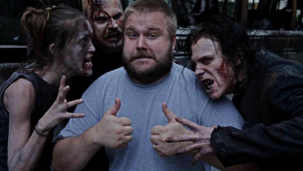 HAR EN PLAN: «The Walking Dead»-skaper Robert Kirkman vet hvordan han skal avslutte tegneserien - men aner ikke nøyaktig når det vil skje. Foto: AMC