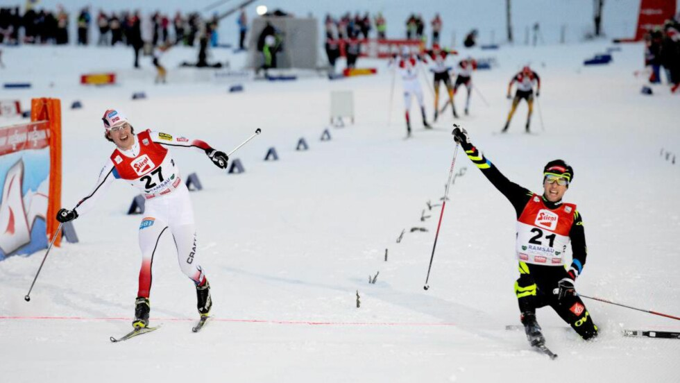 BUT NO SIGAR:  Det holdt bare nesten for Mikko Kokslien.  Foto: NTB Scanpix