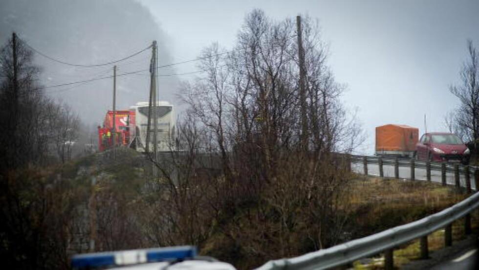DRAP: Det var i november i fjor, at asylsøkeren tok seg inn på bussen i Årdal og drepte tre personer. Foto: Anita Arntzen / Dagbladet