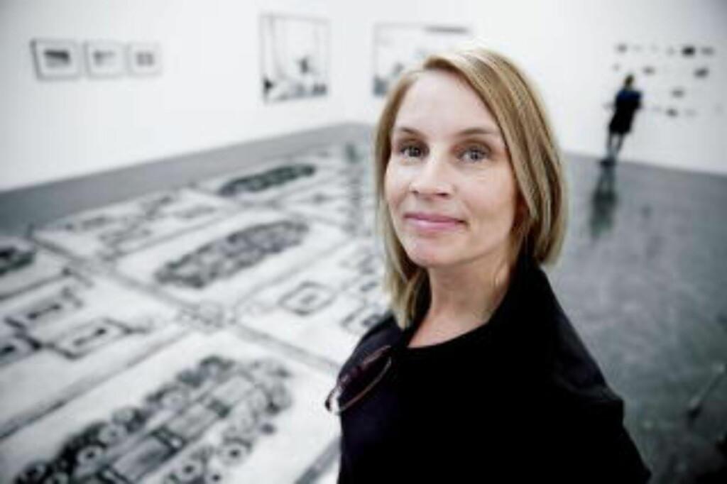 KUNSTNER: Marit Justine Haugen er kunstner og arkitekt og blant bidragsyterne til Høstutstillingen, som åpner lørdag på Kunstnernes Hus i Oslo. Foto: Bjørn Langsem / DAGBLADET
