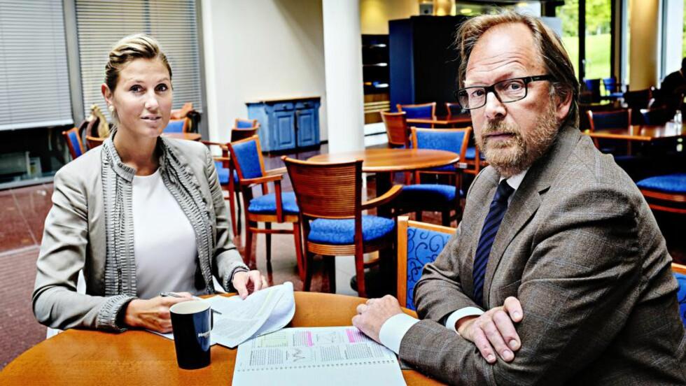 ØKONOMI: Sjefstrateg Erica Blomgren og sjeføkonom Stein Bruun, SEB, treffer langt bedre med sine prognoser enn Norges Bank. Foto: Are Haram / Finansaivsen