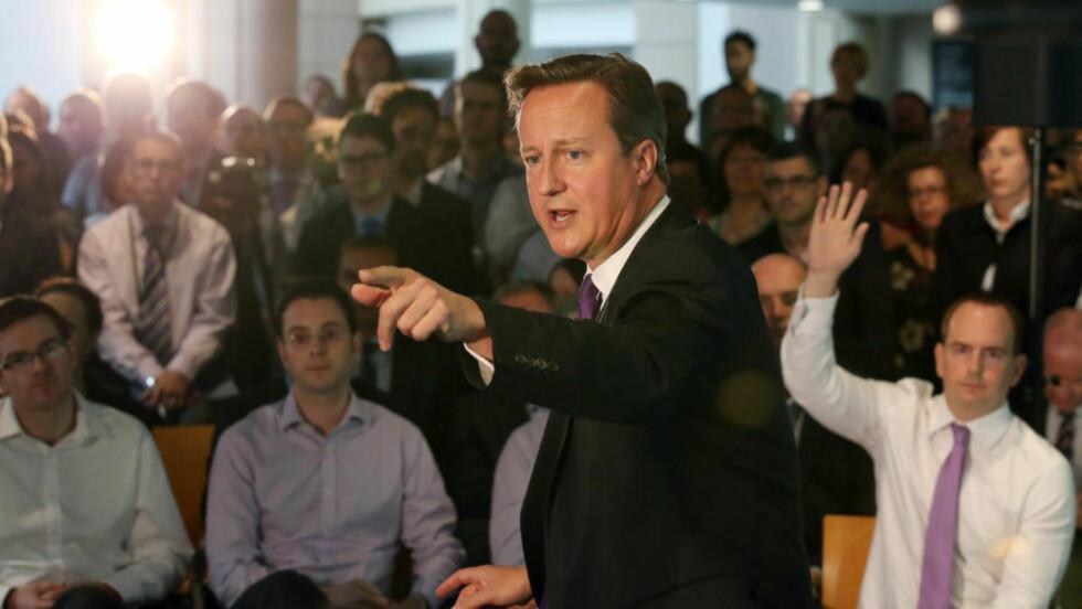 GJØR ALT I VÅR MAKT :  Storbritannias statsminister David Cameron - vi vil gjøre alt som står i vår makt for å forfølge og pågripe drapsmennene og sikre at de stilles for retten, uansett hvor lang tid det tar.  Foto: REUTERS/Andrew Milligan/Pool