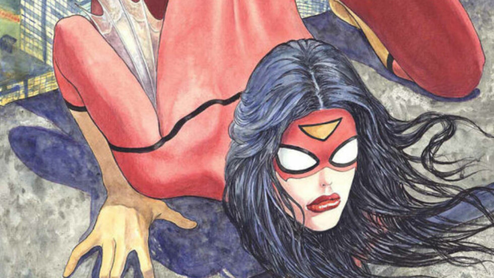 Pornografiske inspirasjoner Tegneserieskaperen Milo Manara er godt kjent for sine erotiske serier, nå har han tegnet coveret til det nye Spider Woman-bladet. Illustrasjon: Milo Manara