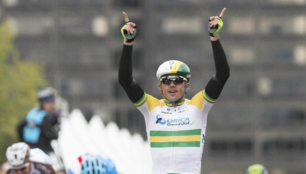 NY SEIER:  Australske Simon Gerrans tok sin annen strake seier da han gikk til topps i Grand Prix Cycliste de Montreal søndag. Foto: AP.