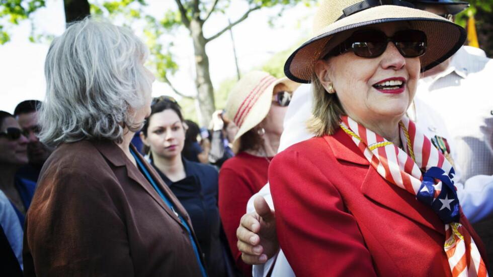 KANDIDAT:  Med sin opptreden i delstaten Iowa søndag tok Hillary Clinton et tydelig steg i retning av å kunngjøre at hun satser på å bli Demokratenes presidentkandidat i 2016.  Foto: Linus Sundahl-Djerf
