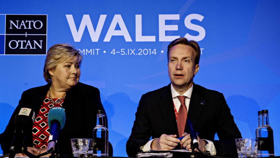 - PRESSES: Statsminister Erna Solberg og utenriksminister Børge Brende. Foto: LARS EIVIND BONES/DAGBLADET