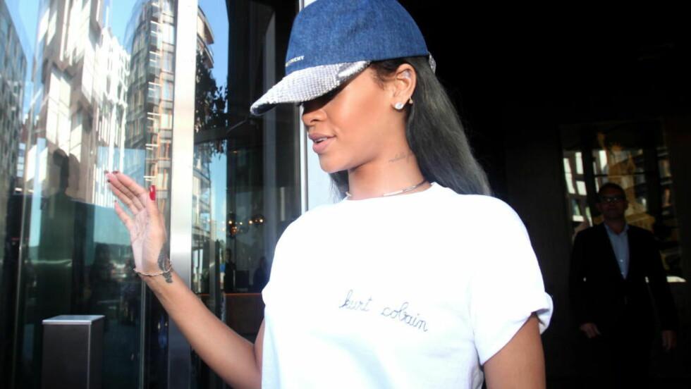 MISFORNØYD: Rihanna ser ikke ut til å finne seg i å bli eliminert fra CBS' sportsprogram. Foto:  Marius Gulliksrud.