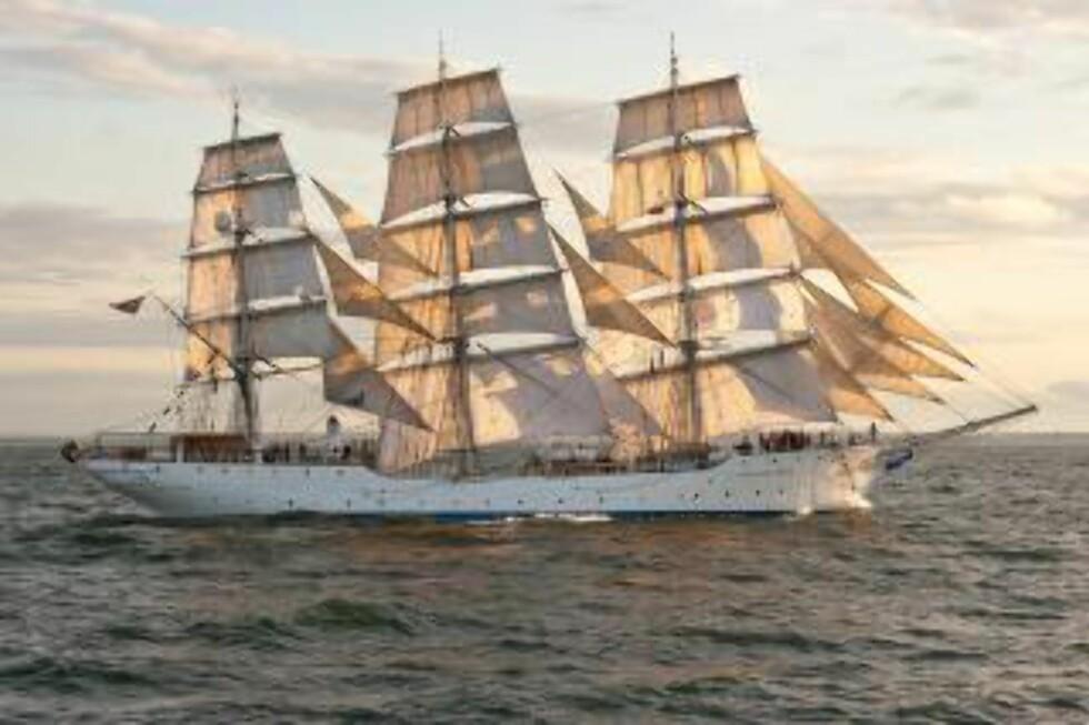 FOR FULLE SEIL:  SS «Christian Radich» er et av de tre norske skoleskipene som deltar på Tall Ships Races. Foto: CHRISTIAN RADICH