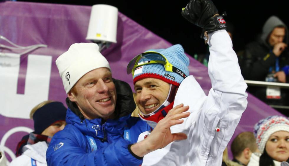 PÅ LEGENDELISTE: I Sotsji ble Ole Einar Bjørndalen kronet som tidenes vinterolympier, men ifølge Ekstrabladet er fortsatt Bjørn Dæhlie den største norske idrettsutøver gjennom tidene, Foto: Heiko Junge / NTB Scanpix