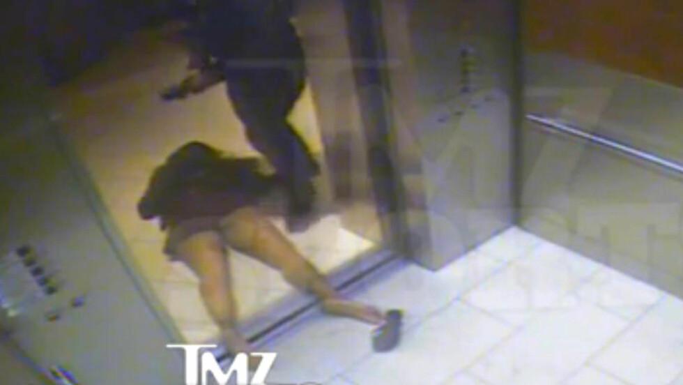SLÅTT I HEISEN: Janay Palmer ble slått i heisen. Fotballstjernen Ray Rice er nå siktet. Foto: TZM.com