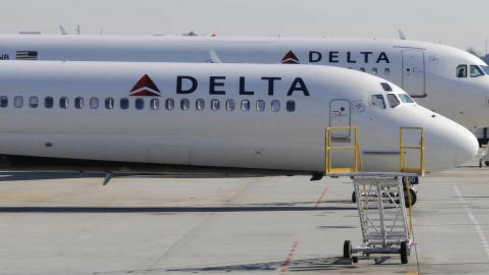 BLE FORSINKET:  Delta Airlines, her avbildet i Atlanta i 2011, opplevde at et av deres fly ble forsinket fra New York i forrige uke etter at ultraortodokse jøder nektet å sitte ved siden av kvinnelige medpassasjerer. FOTO: REUTERS/Tami Chappell
