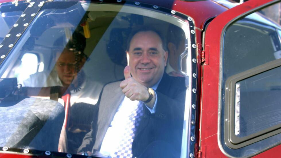 TREKKER SEG: Den skotske nasjonalistlederen og førsteminister Alex Salmond trekker seg etter nederlaget i folkeavstemningen. Foto:  Keith Hammett/Dagbladet.