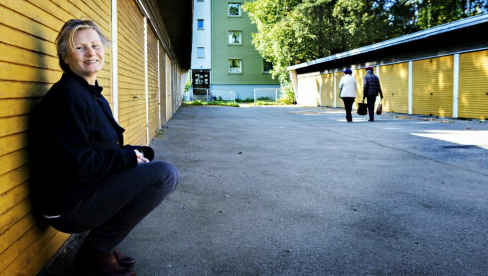 NY BARNEBOKHELTINNE: Torun Lians nye barnebok handler om den stille åtteåringen Alice, som en dag blir innelåst i garasjen utenfor blokka. Alice ligner mye på forfatteren selv som barn. Foto: Nina Hansen / Dagbladet