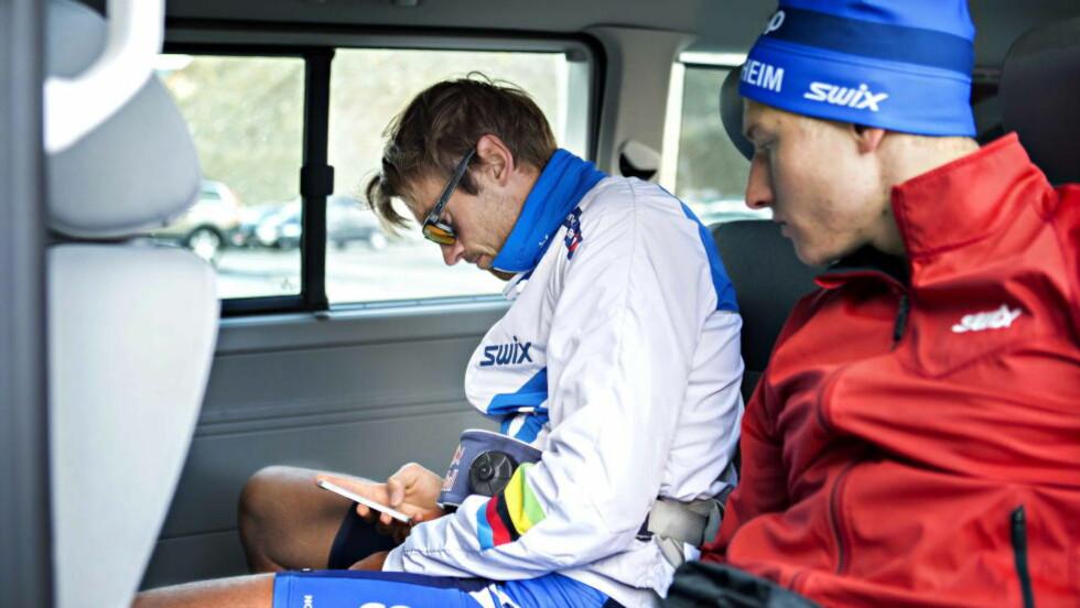 VENTER:  Petter Northug på treningssamling i Italia. Foto: Nina Hansen / Dagbladet