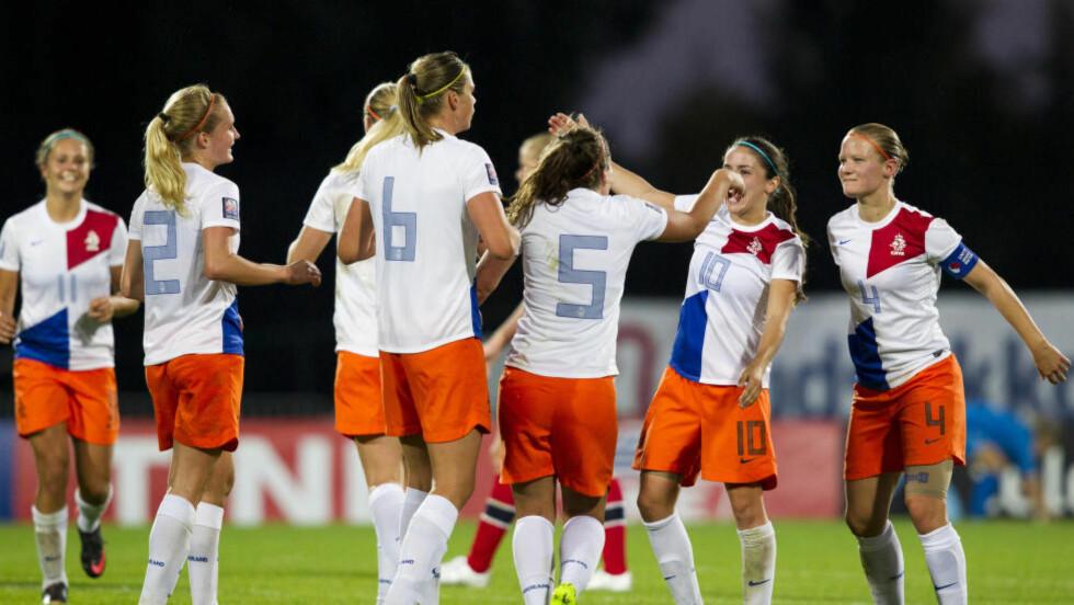 SKJEBNEKAMP:  Nederland møter Skottland i VM-kvalifiseringen. Foto: NTB Scanpix