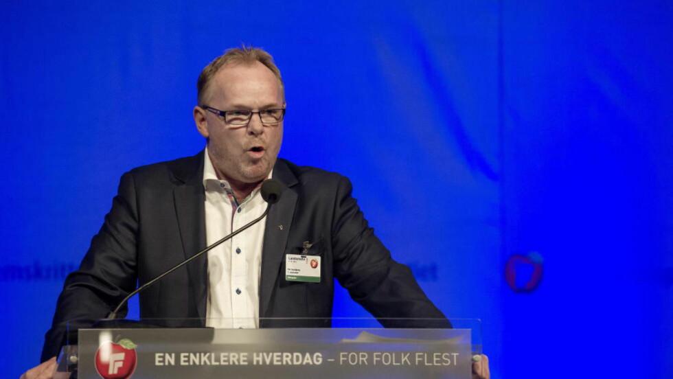 UTFORDRER Per Sandberg forlanger politiske avklaringer av Arbeiderpartiets leder Jonas Gahr Støre. Foto: Øistein Norum Monsen / DAGBLADET