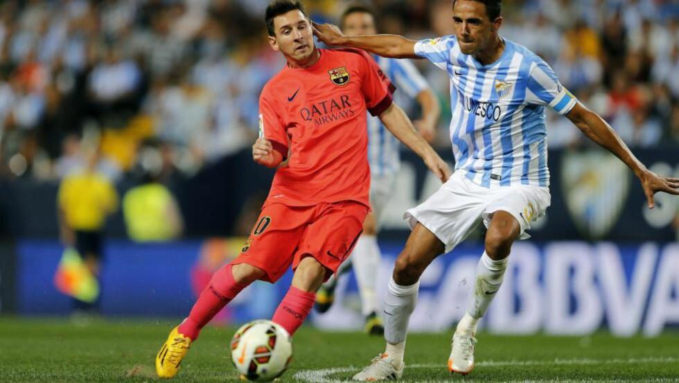 MÅLLØST: Det endte 0-0 mellom Malaga og Barcelona.  EPA/JORGE ZAPATA