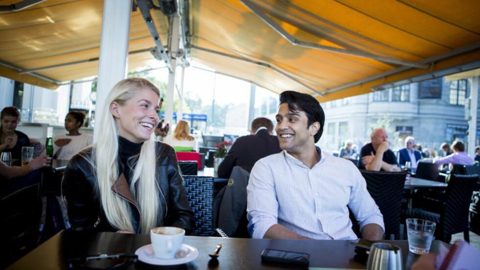 FILMPAR: Katharina Lindström Gjesdal (22) og Elias Ali (20) spiller kjærester i den nye filmen «Haram», som betyr synd eller forbudt. I flere miljøer er et forhold mellom en blond, norsk jente og en pakistansk gutt utenkelig.