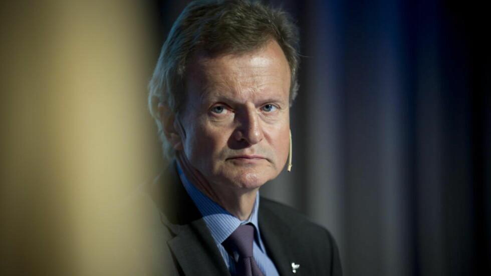 GIR SEG: Telenorsjef Jon Fredrik Baksaas gir seg som leder av selskapet mot slutten av 2015. Foto: Øistein Norum Monsen / DAGBLADET