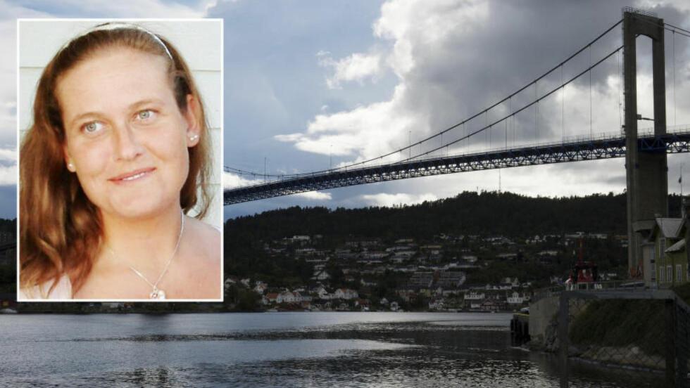 DØDE ETTER FALL:  Linn Madelen Bråthen (33) døde etter å ha falt fra Breviksbrua natt til 3. august i fjor. Foto: Øistein Norum Monsen / Dagbladet, privat